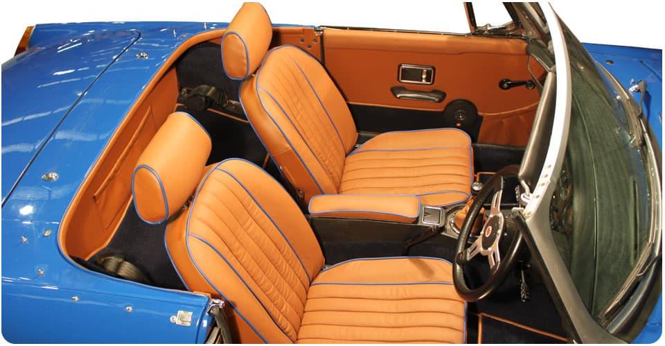 mgb 1970 1980 carpet set seat covers trim panels interior trim package ebay. Black Bedroom Furniture Sets. Home Design Ideas