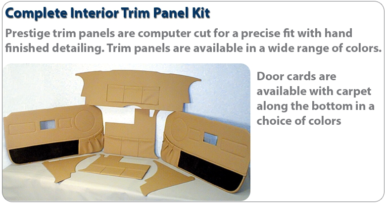 Triumph spitfire premium bespoke interior trim packages for Interior trim materials